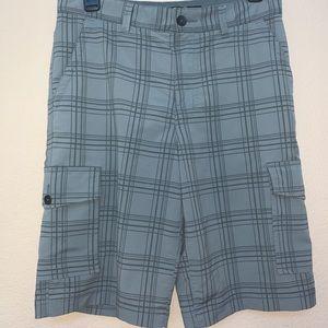 Tony Hawk Gray & Dark Gray Plaid Shorts Sz 16